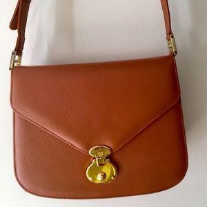 MCM Calfskin Leather Shoulder Bag